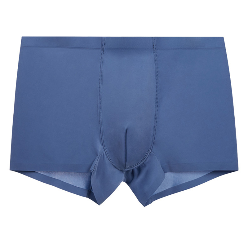 Mens Thin Sexy Seamless Ice Silk Breathable Boxers Underwear