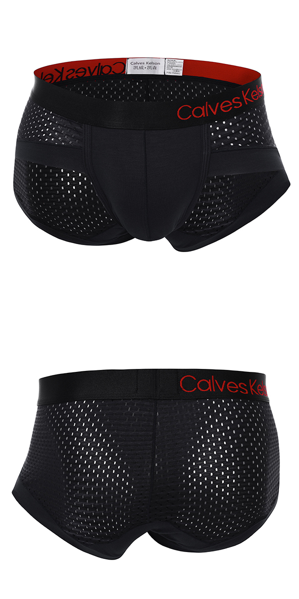 Mens Sexy Mesh Breathable Mid-Rise U Convex Pouch Briefs Modal Casual Underwear