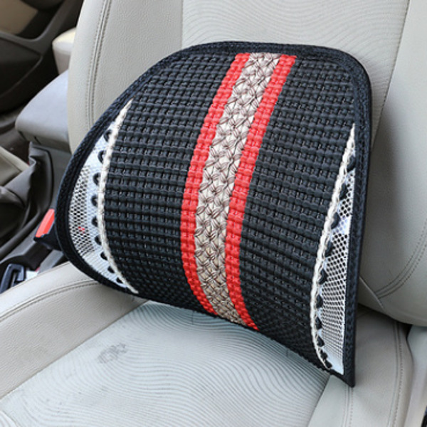 Bamboo Summer Car Back Cushion Seat Chair Ventilate Cushion Pad