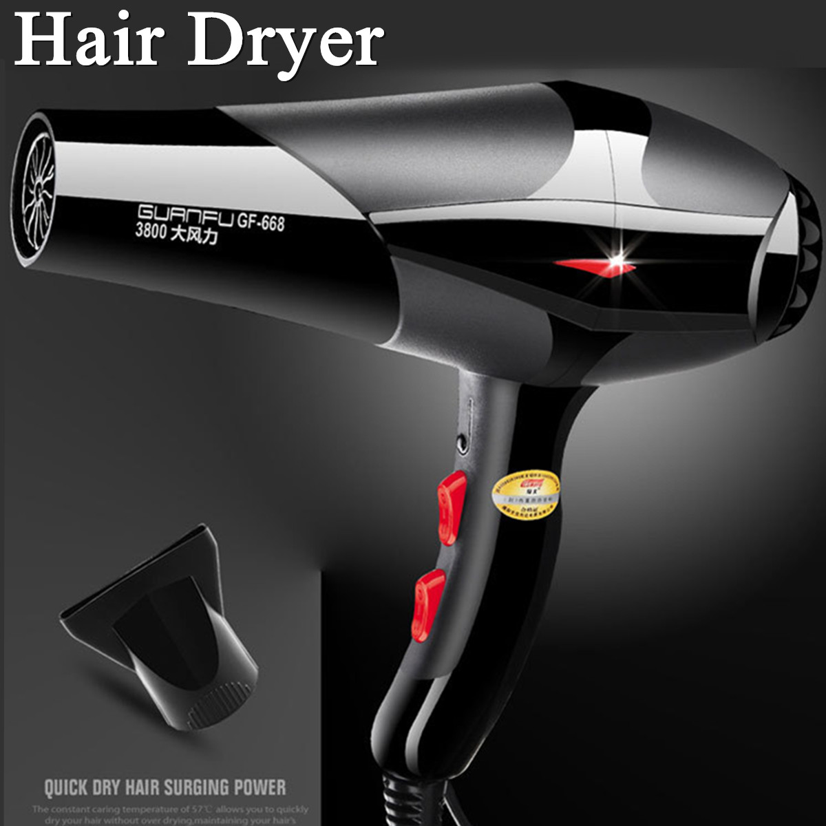 2400W Professional Electric Hair Dryer Salon