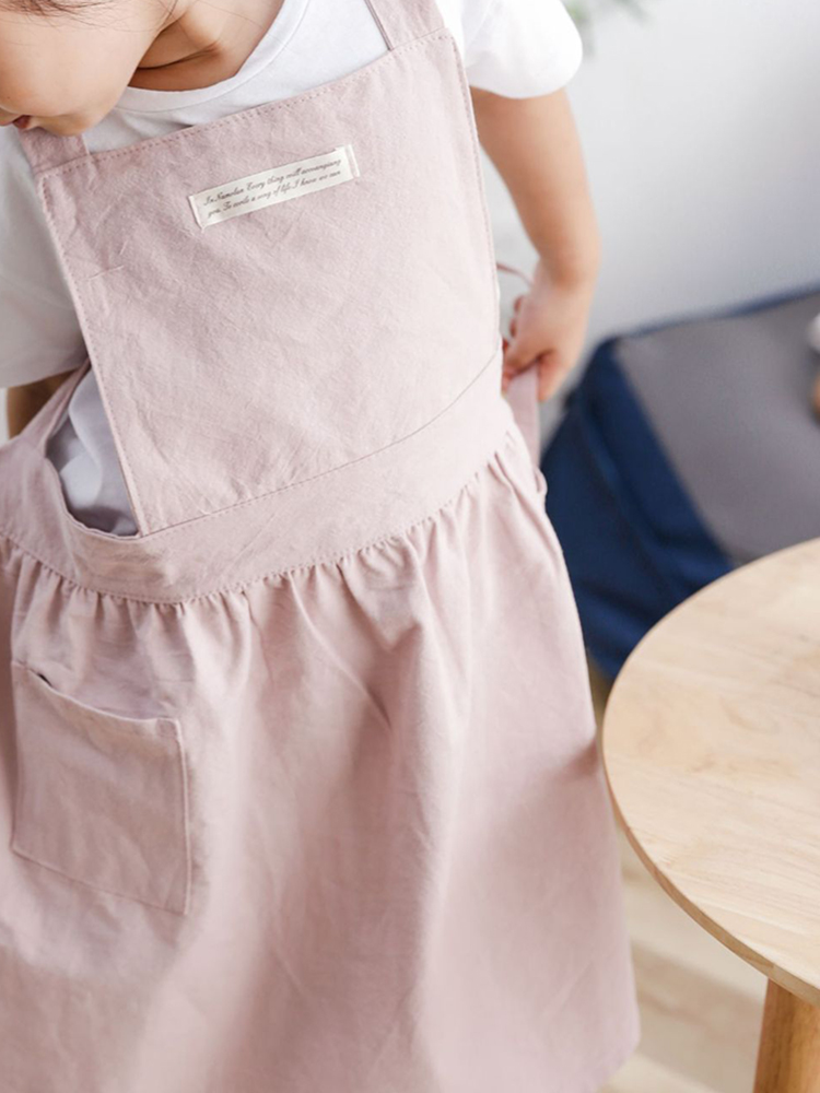 Children Girl Japanese Style Gardening Cooking Cotton Aprons