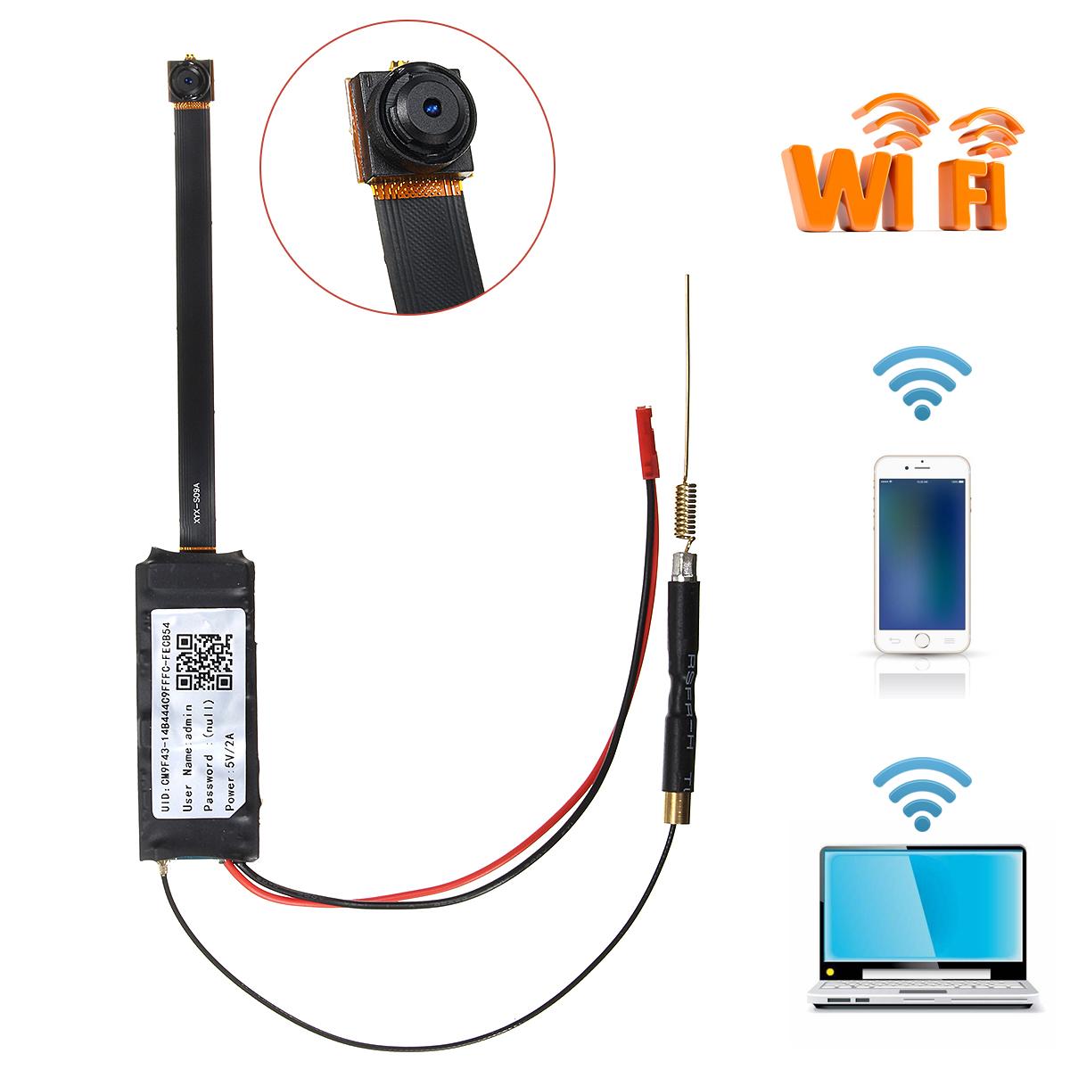 FHD 1080P Wireless WiFi IP Hidden Camera DIY Module Mini DV Motion Nanny Cam