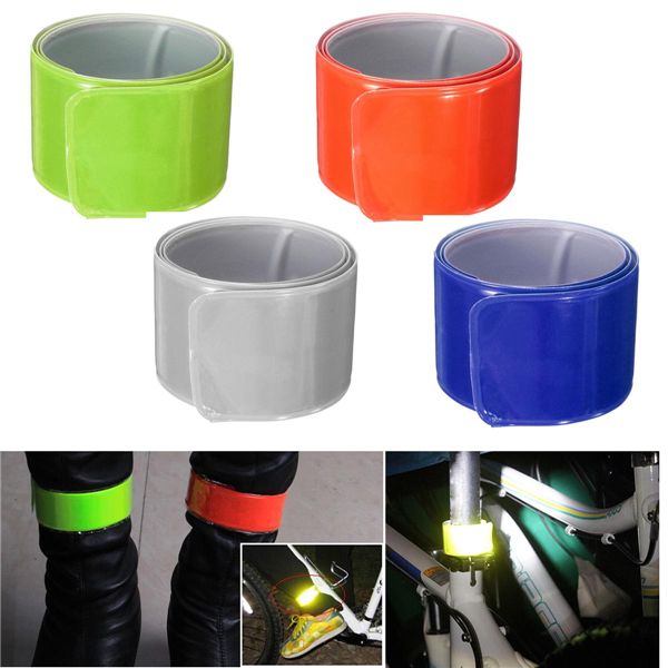 Reflective Ankle Armband Safety Silicon Strap Belt Sports Night Light Motorcycle Cycling Running