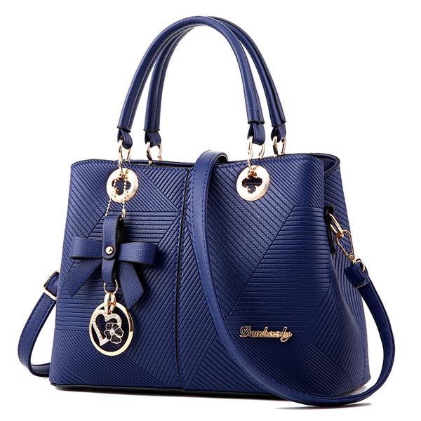 Women Embossing PU Tote Handbags Elegant Shoulder Bags Capacity Crossbody Bags