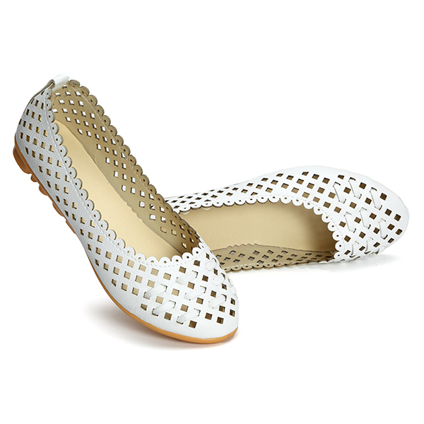 Women Shoes Hollow Out Breathable Casual Flats