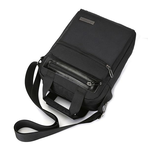 Men Nylon Waterproof Handbag Minimalist Fashion Casual Tablet Bag Shoulder Crossbody Bag