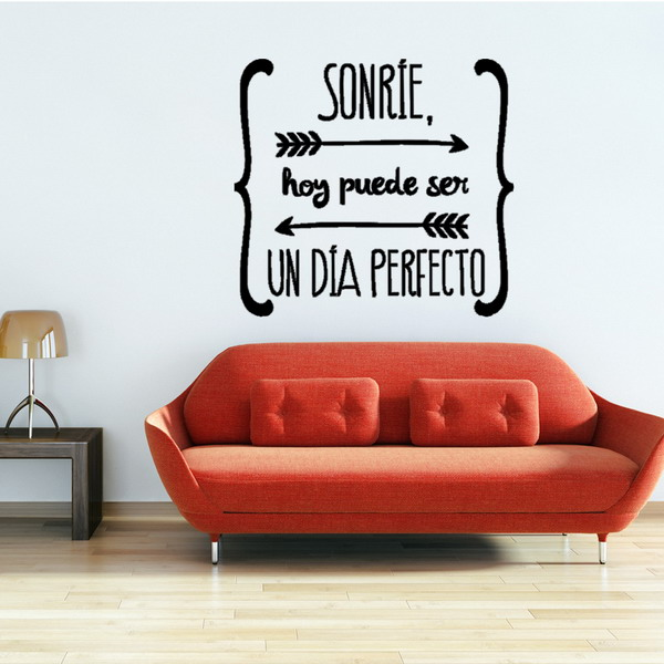 55x50cm Spanish Quote Poster Wall Stickers Birds Letter