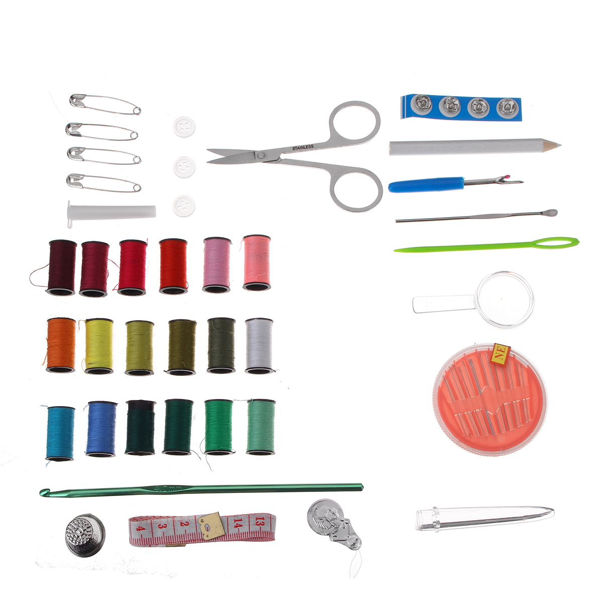 41Pcs Needle Sewing Tool Kit Thread Needle Tape Stitching For Travel Home Use