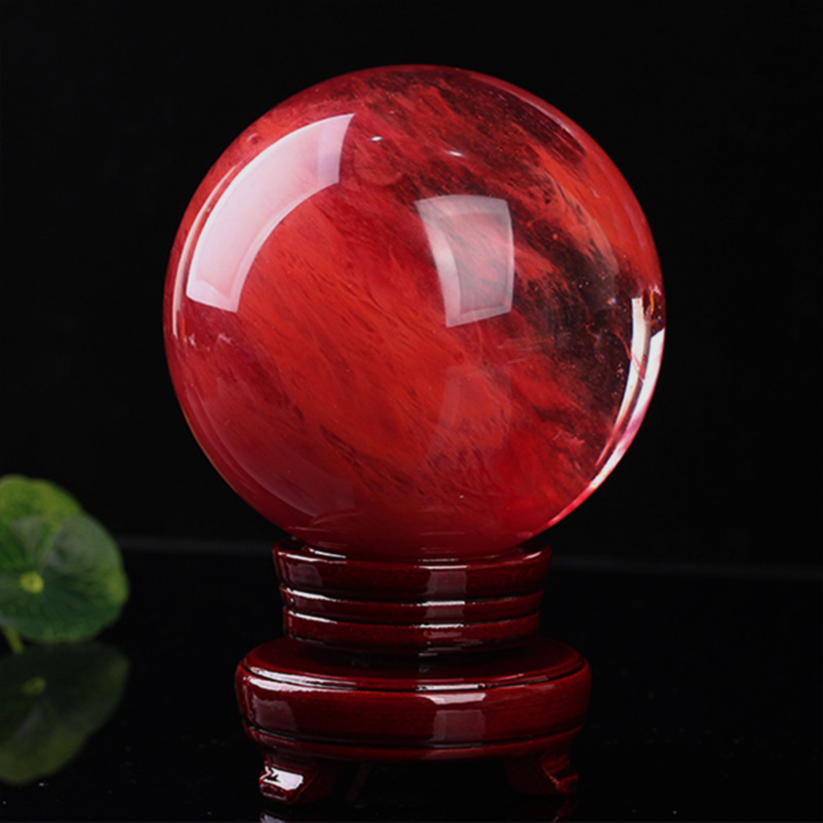Red Citrine Calcite Quartz Gemstone Stand Crystals Sphere Ball Healing 60mm-80mm