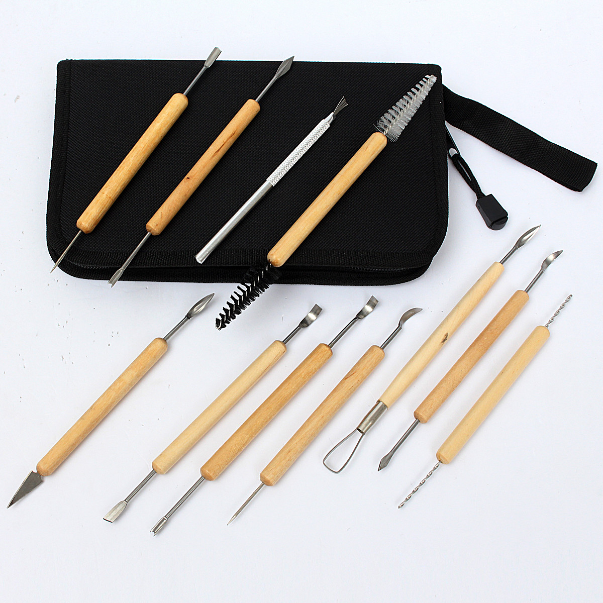 11pcs Clay Sculpting Wax Carving Pottery Tools Shapers Polymer Modeling Set
