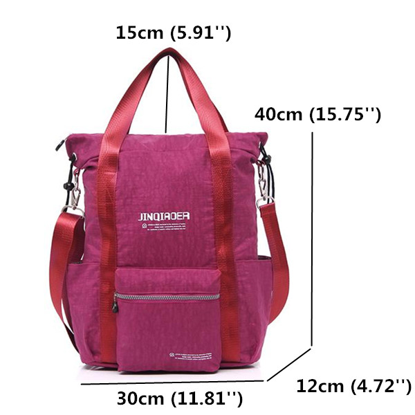 Women 40L Nylon Light Handbags Backpack Girls Waterproof Large Capacity Tote Bags Students Book Bags