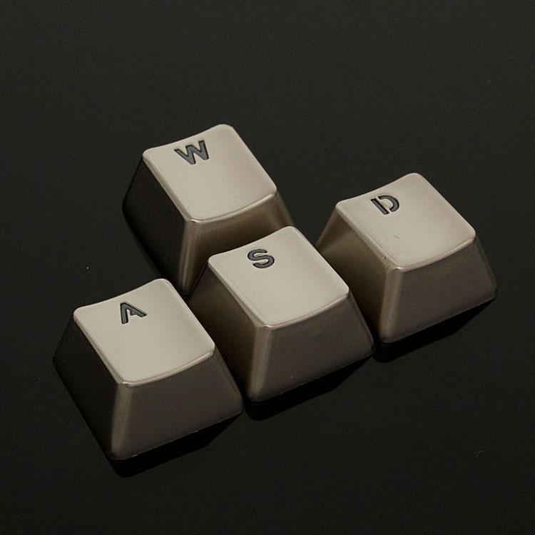 Zinc Alloy Transparent WASD Metal Mechanical Keyboard Keycaps for Cherry MX