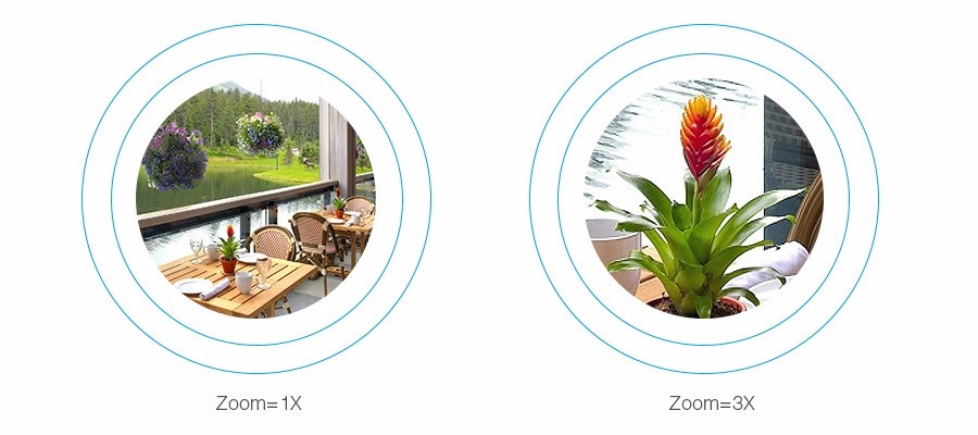 FOSCAM FI9828P Wireless Outdoor PTZ IP 960P 3x Zoom Monitoring Dome Security Camera 70 Degree View