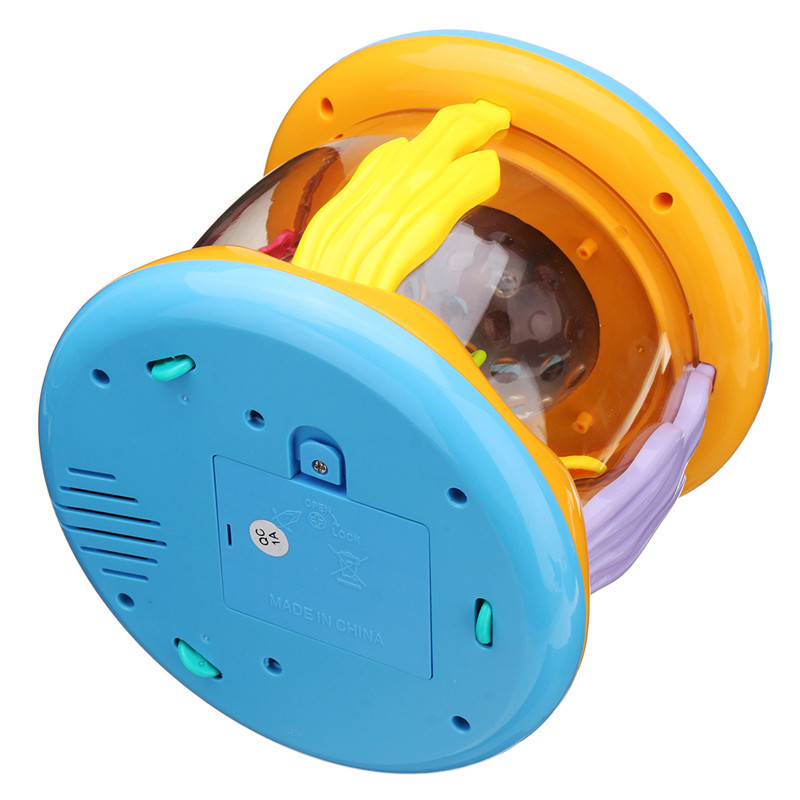Kids Puzzled Ocean Hand Drums Baby Kids Musical Toys Drum Rattles Toy Light Acousto-optic Toy