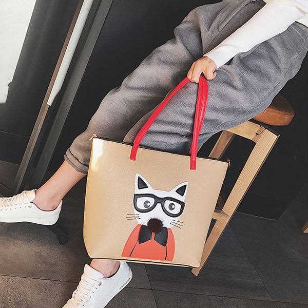 Pussycat Handbag Shoulder Messenger Bag Tote Bag For Women