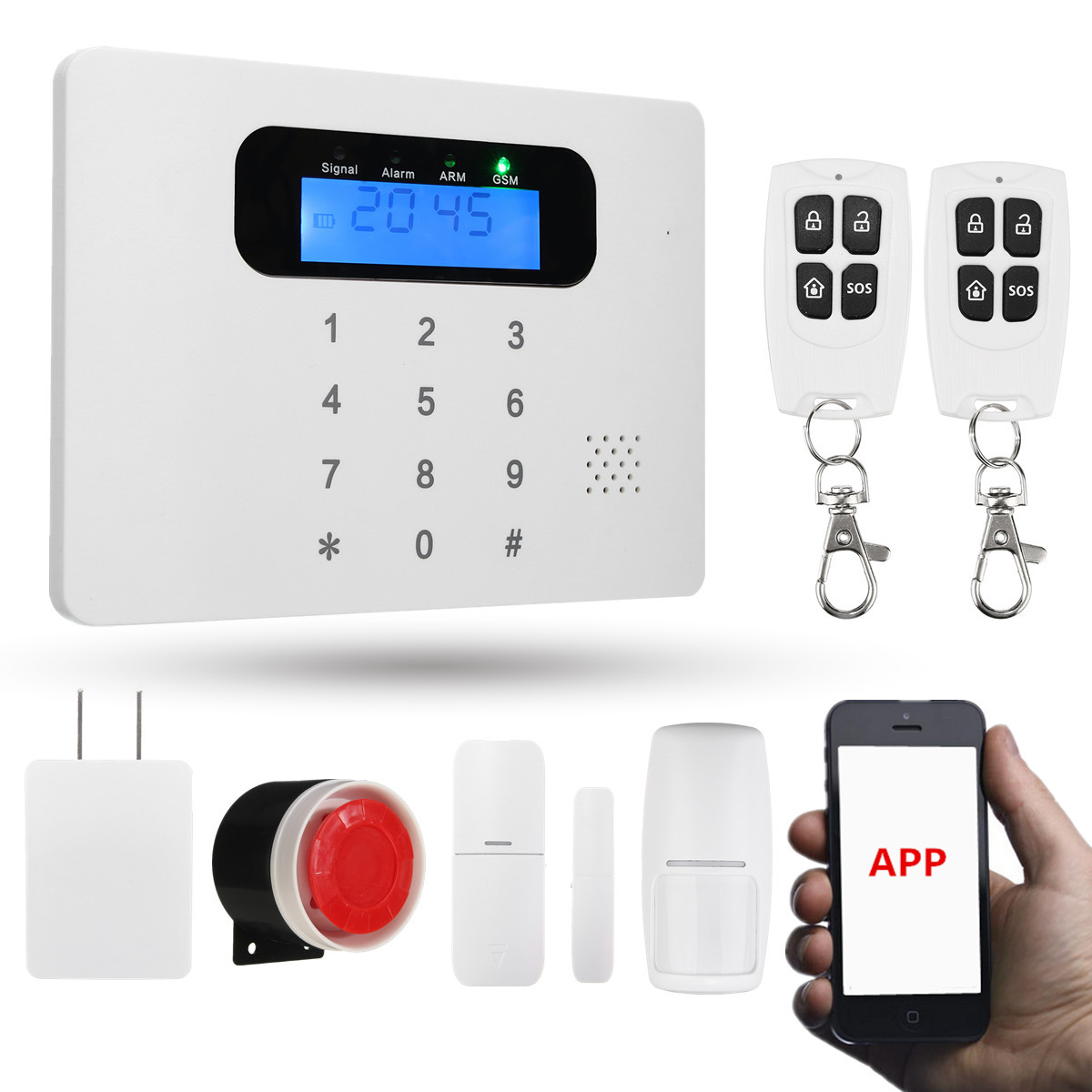 APP Control Wireless GSM PSTN Home House Office Alarm Security System Autodial