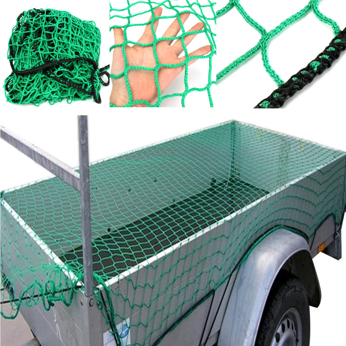 1.5x2.2m Heavy Duty Cargo Net Pickup Truck Trailer Car Dumpster 45mm Mesh Covers