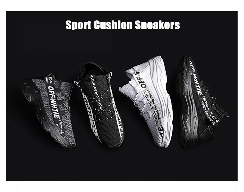 Men Outdoor Athletic Air Mesh Breathable Lightweight Running Shoes Sport Cushion Sneakers