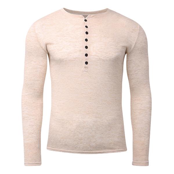 Men's Fashion Buttons Design Half-cardigan T-shirts