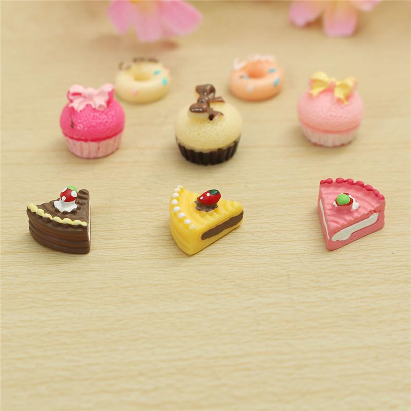 8PCS 1/12 Cute Dollhouse Miniature Kitchen Food Cakes Creative Kids Play Set Doll House Accessories
