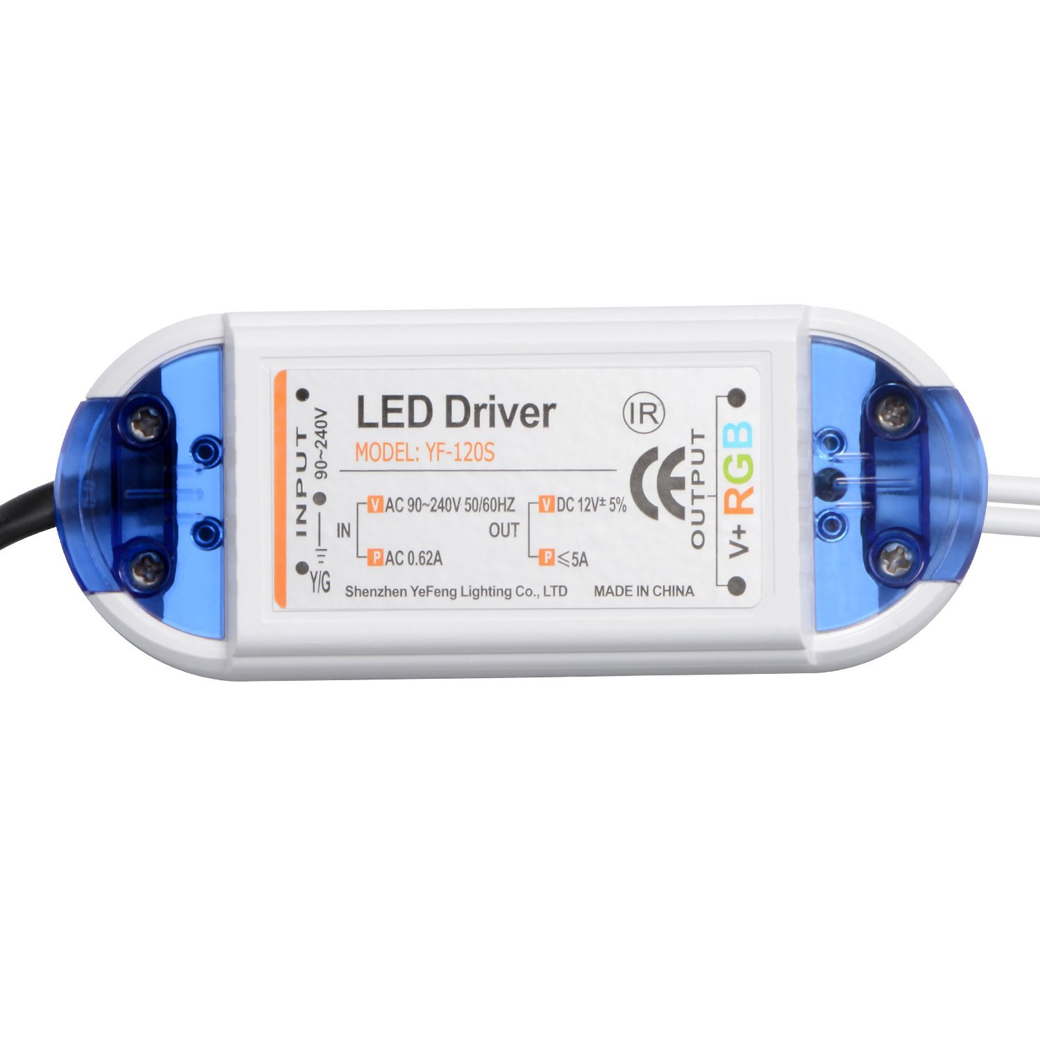 ZX AC90-240V To DC12V 5A 60W Power Adpter LED Driver with 24 Keys Remote Control for RGB Strip Light