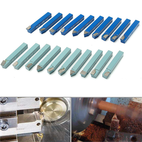 20pcs 1/2 Inch Shank Lathe Tool Set Carbide Tip Metal Cutting Turning Boring Bar