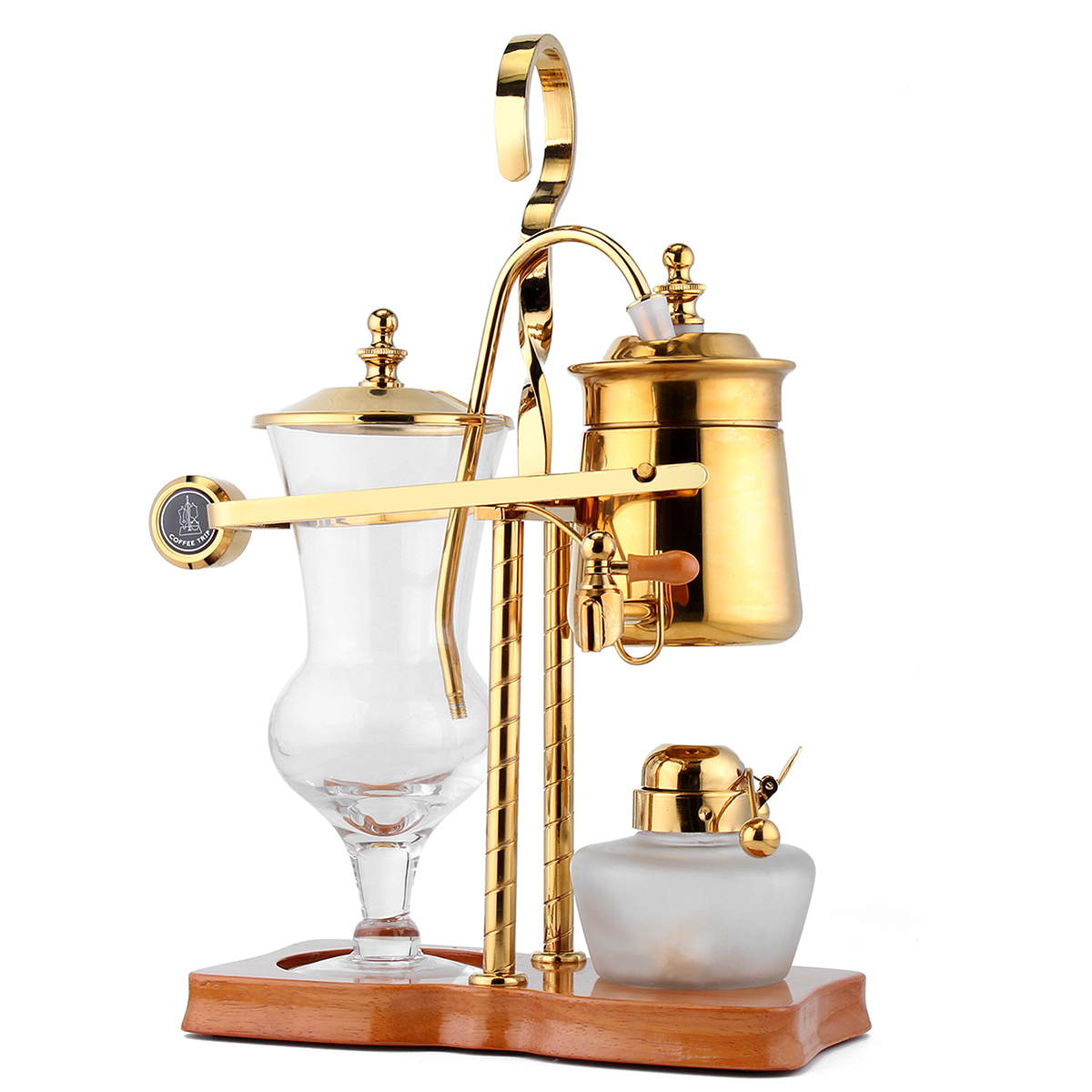 Belgian Belgium Luxury Royal Family Balance Syphon Siphon Coffee Tea Pot Maker Golden