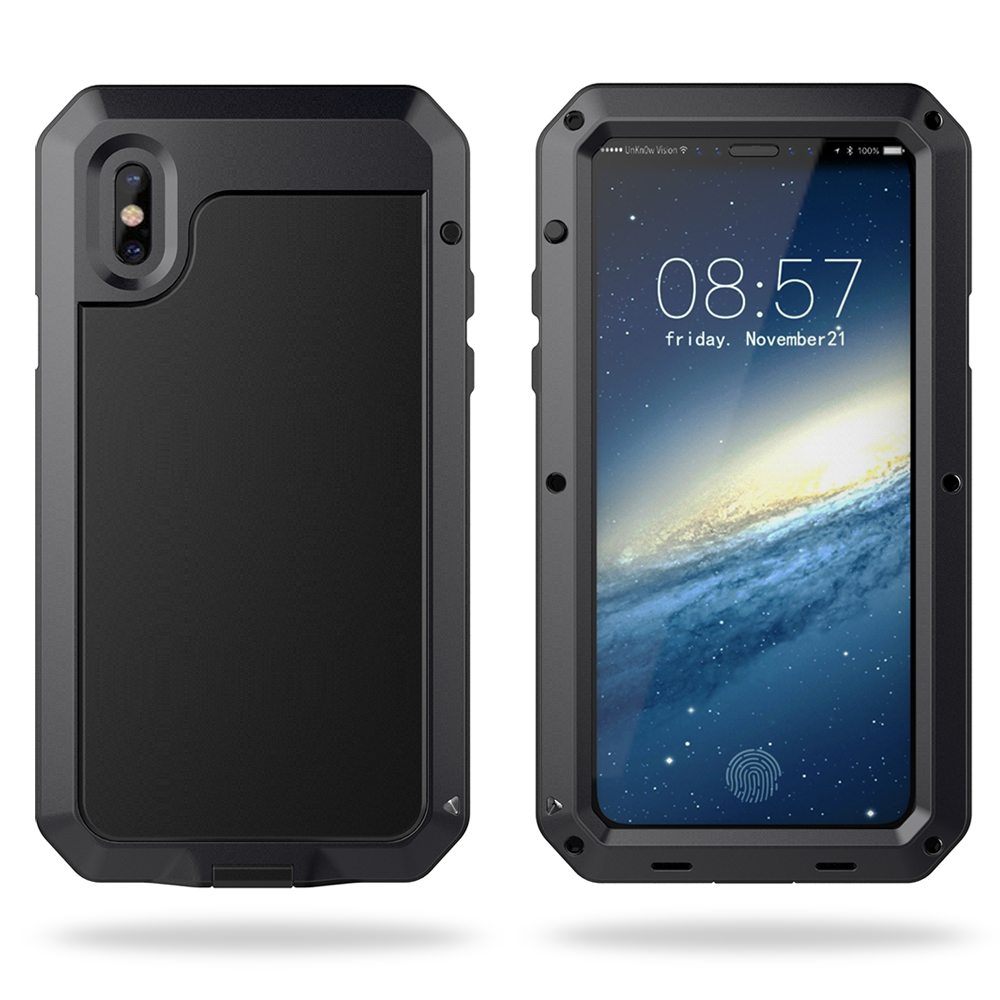 Aluminum Waterproof Shockproof Protective Case For iPhone X