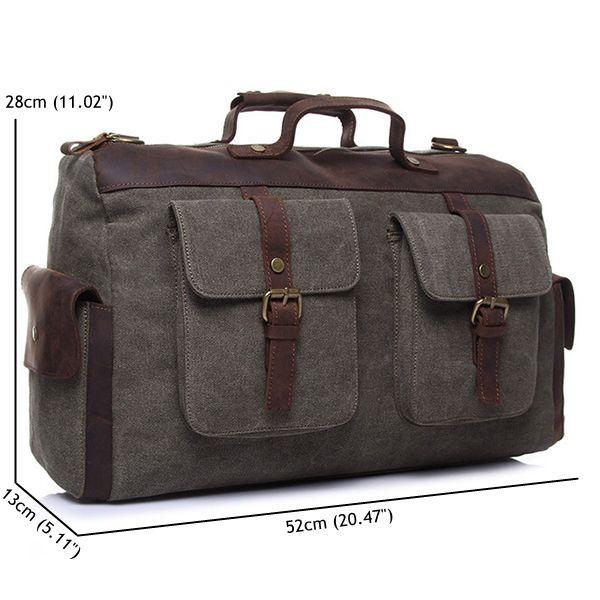 Ekphero® Men Canvas Retro Crossbody Handbag Fashion Casual Travel Messenger Bag