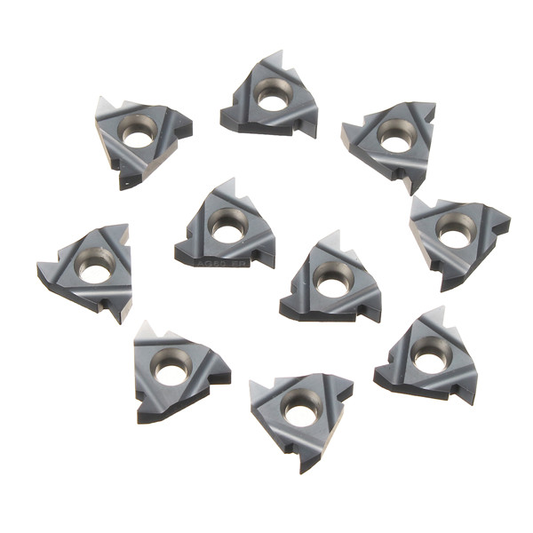 10pcs 16ER AG60 Carbide Inserts Tungsten Steel Threading Inserts Turning Tool Blades