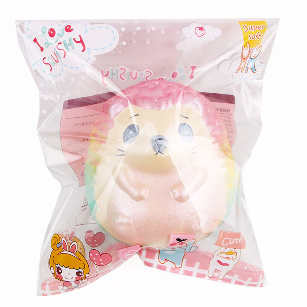 2PCS Squishy Hedgehog Family Huge 20*17*15CM Cartoon Gift Collection Soft Toy With Packaging