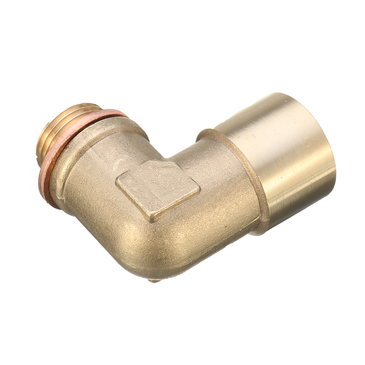 M18X1.5 Angled Lambda O2 Oxygen Sensor Extension Spacer Brass For Decat