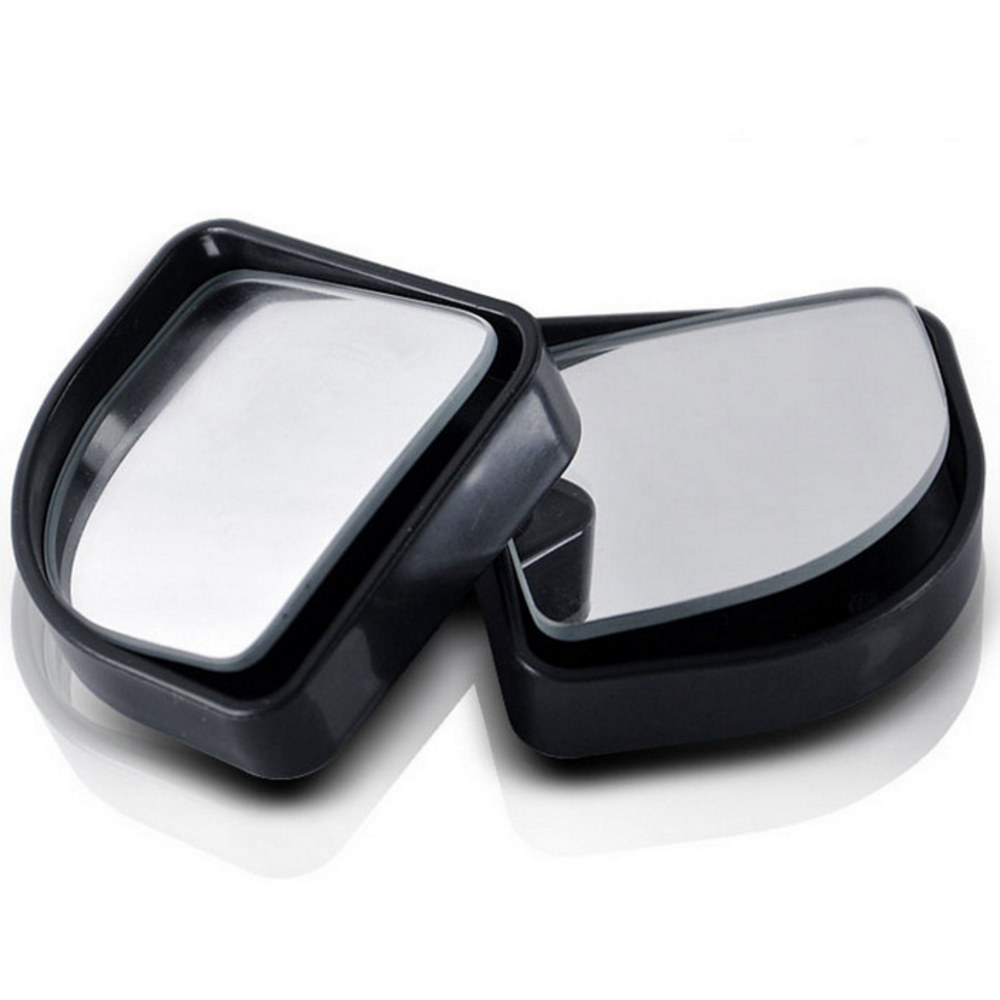 3R Pair Sector Shape Car Blind Spot Rearview Mirror HD Convex 360° Wide Angle Adjustable Mirror