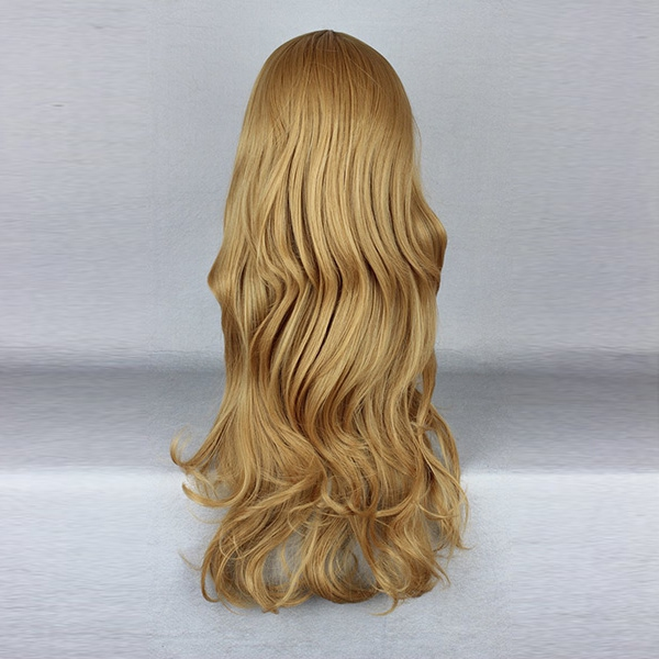 Golden Blonde Long Harajuku Heat Friendly High Temperature Synthetic Hair Costume Cosplay Wig