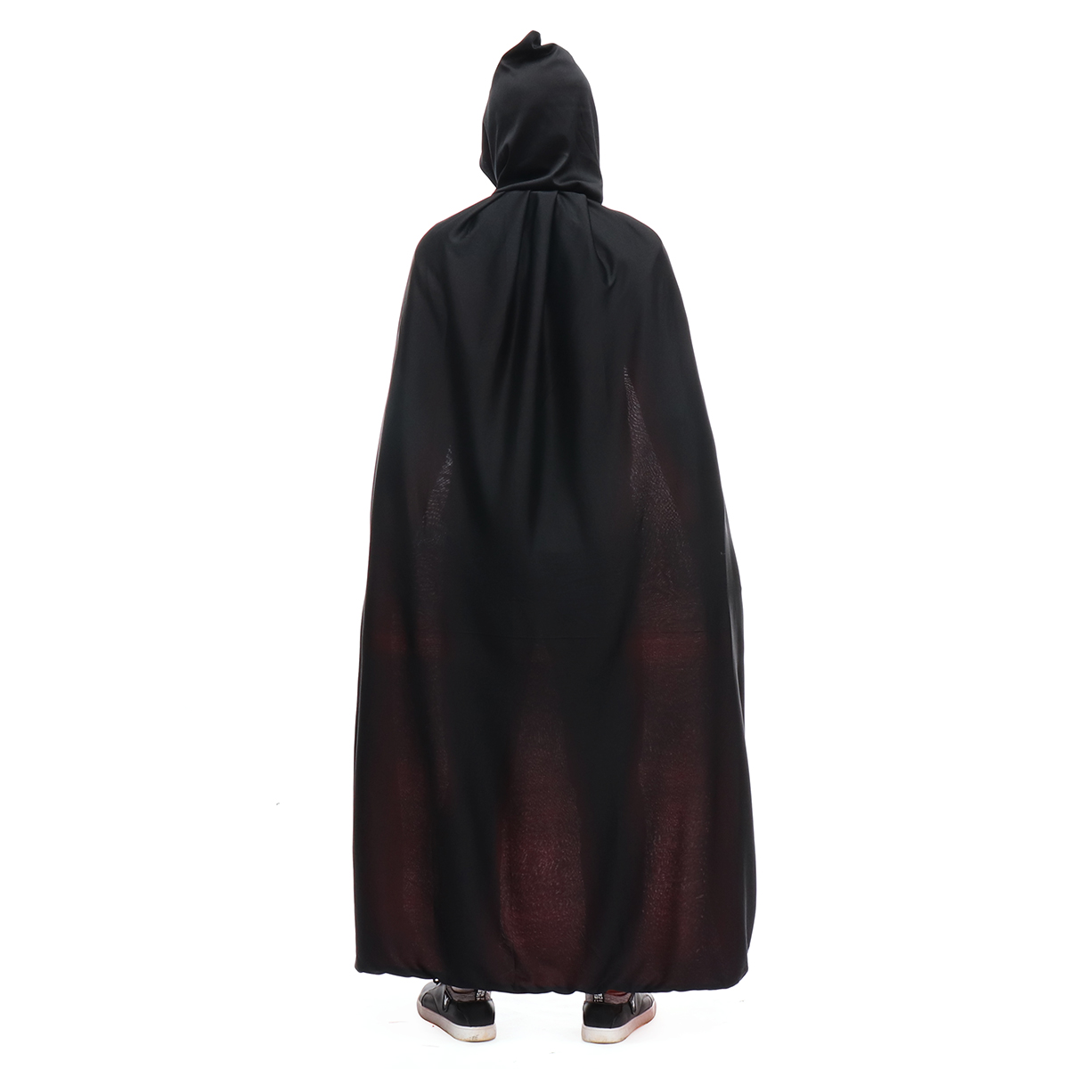 Halloween Hooded Cape Adult Unisex Long Cloak Black Costume Dress Black/Red 2 Sides