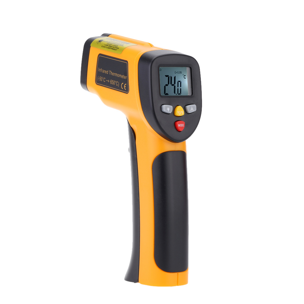 HT-816 High Precision -55~650°C(-58~1202°F) Non Contact IR Digital Infrared Thermometer Temperature Tester Pyrometer