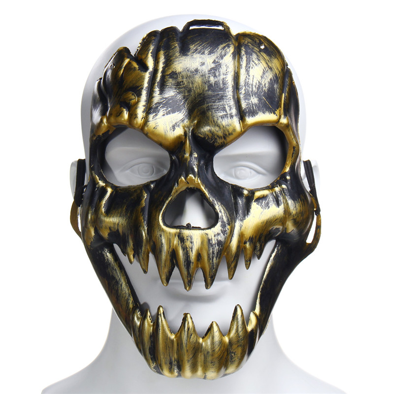 Plastic Horror Skull Jaw Mask Skeleton Warrior Ghost Mask Scare Halloween Party