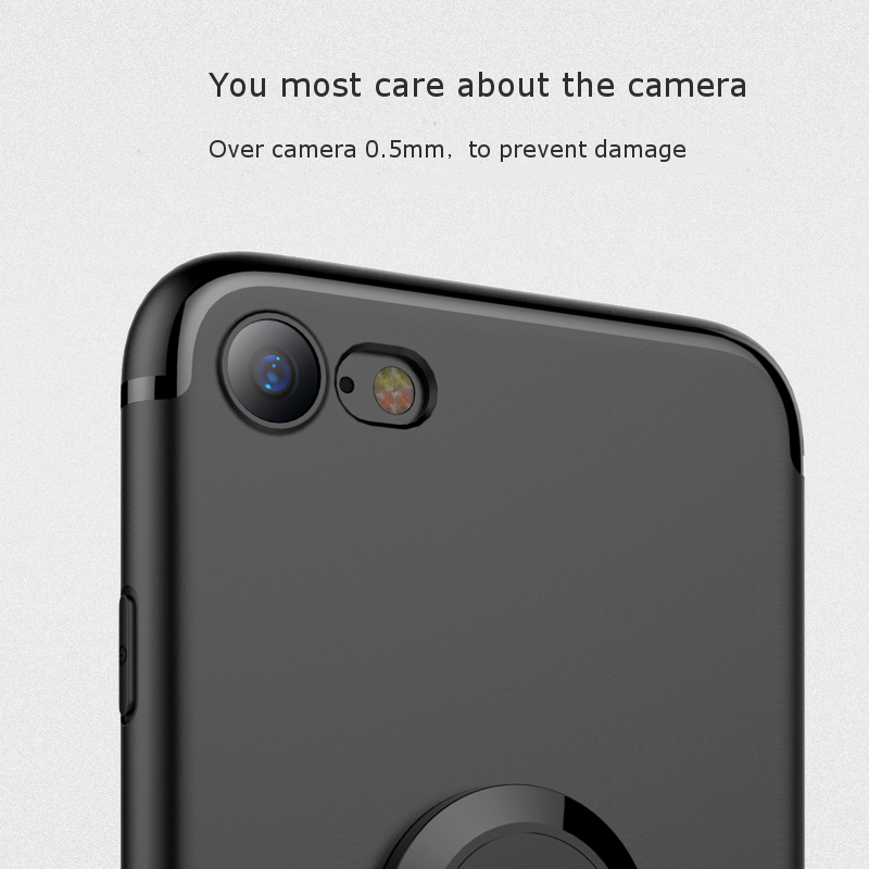 Bakeey™ 360° Adjustable Metal Ring Kickstand Magnetic Frosted Soft TPU Case for iPhone 7/8 4.7 Inch