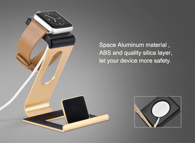 HOCO Aluminum Alloy Charging Stand Holder For Apple Watch iPhone 7/7 Plus iPad Pro 12.9