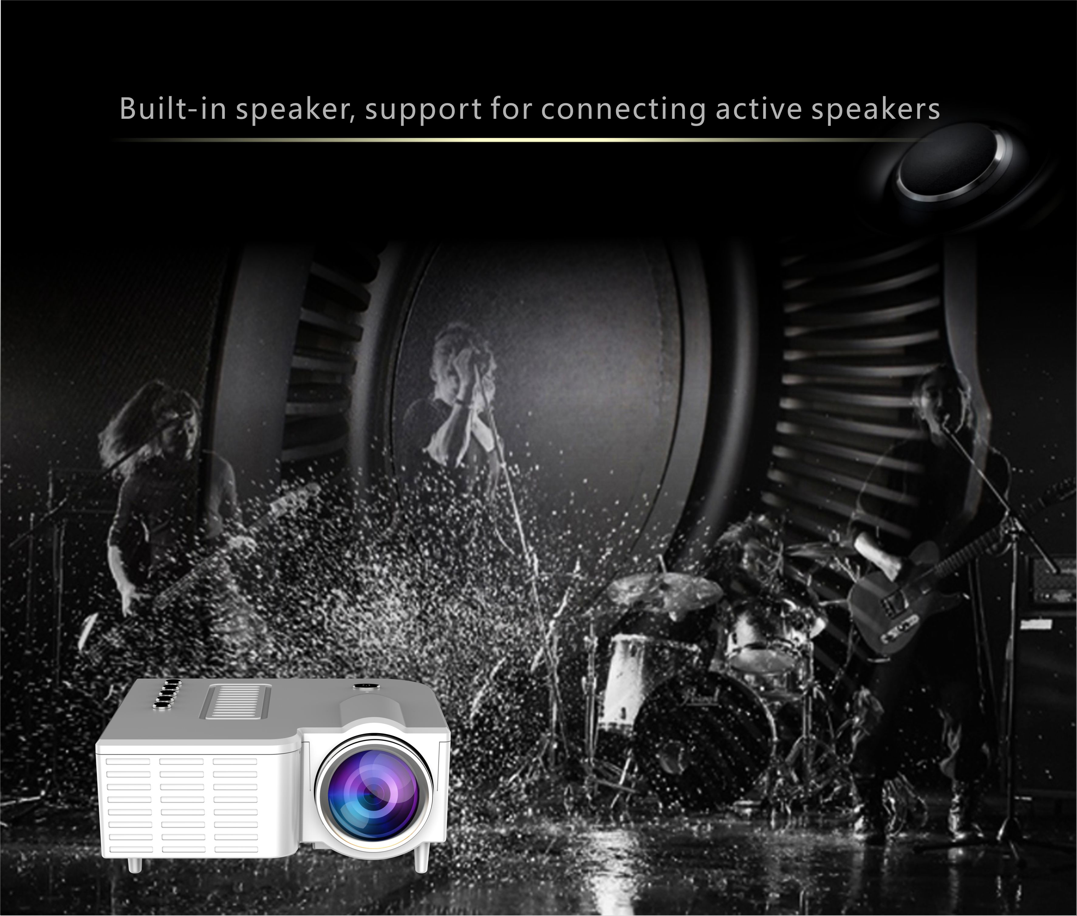 UC28A Mini Multimedia LED Projector Portable Home Cinema DVD AV SD USB HDMI