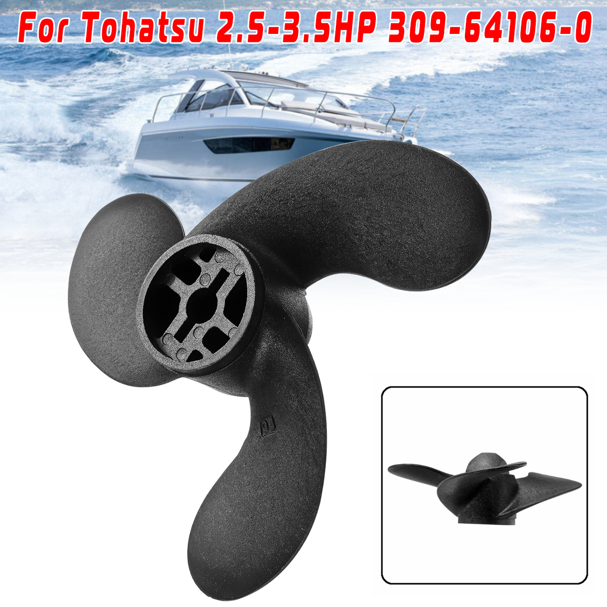 7.4 x 5.7 Boat Propeller For Nissan Tohatsu Johnson Engine 2.5-3.5HP 309-64107-0
