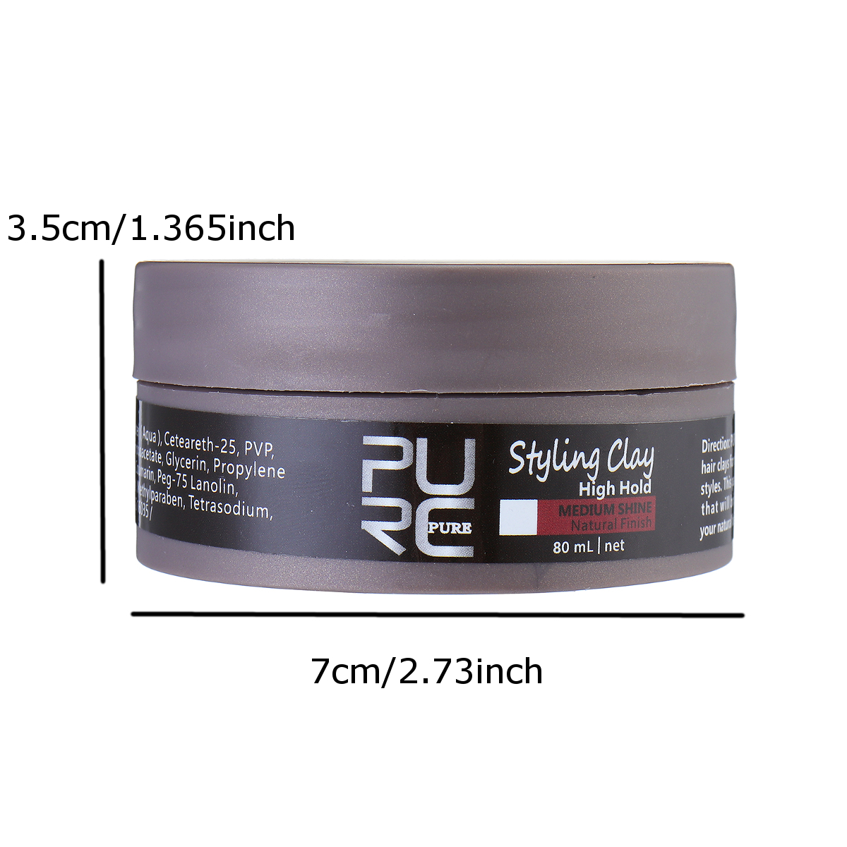 80ml Retro High Hold Styling Pomade Mud