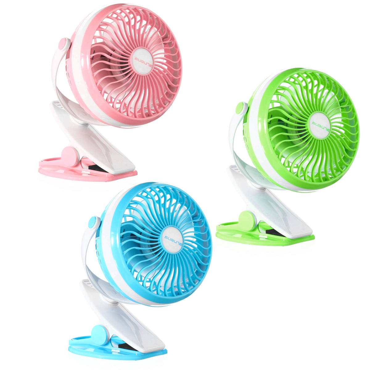 360º Clip On Portable Mini USB Baby Carriage Camping Outdoor Desktop Office Fan Cooler