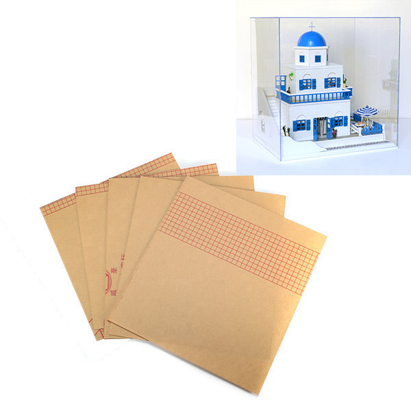 CuteRoom DIY Transparent Display Box Dust-proof Cover Dollhouse The Santorini Island