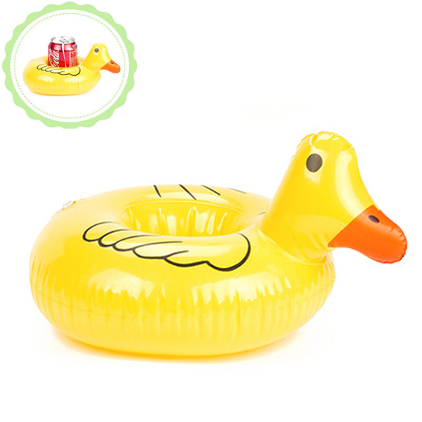 IPRee™ PVC Inflatable Mini Cute Duck Drink Can Holder Floating Swimming Pool Beach Toys