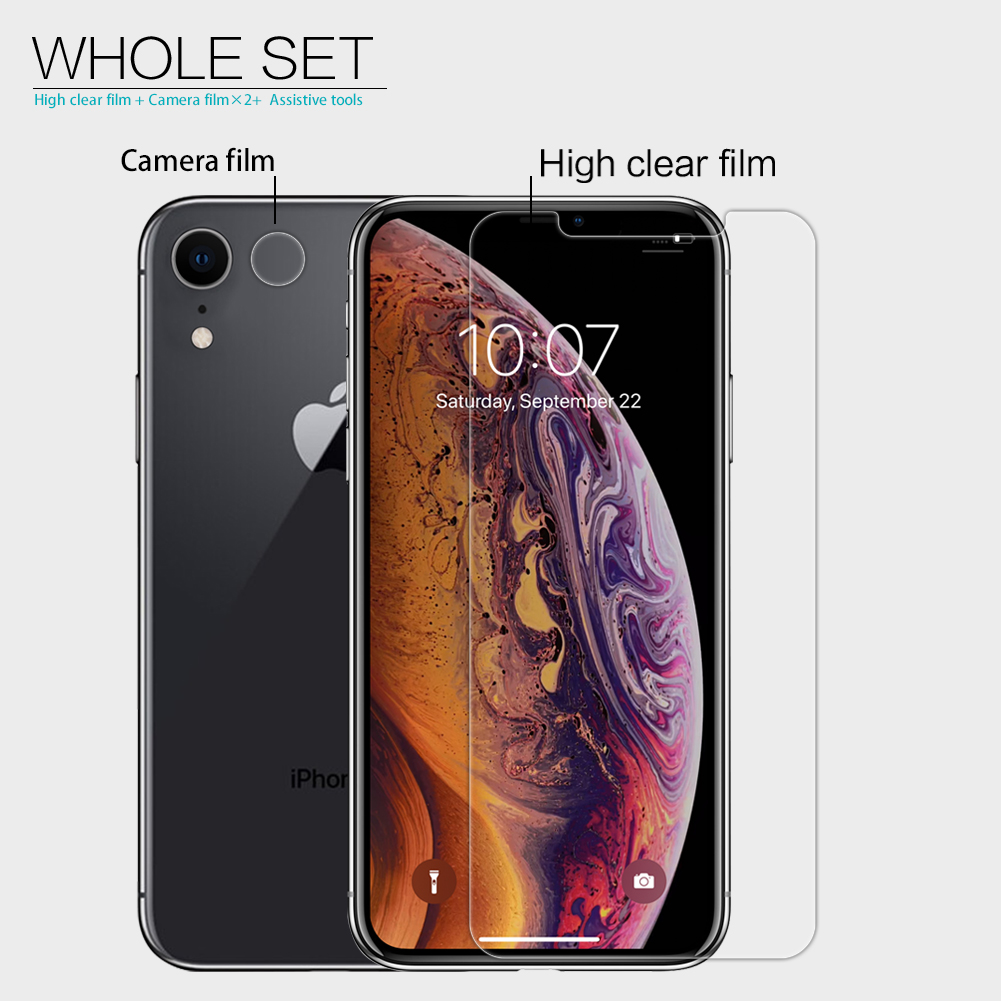 Nillkin Clear HD Screen Protector With Rear Camera Lens Protector For iPhone XR