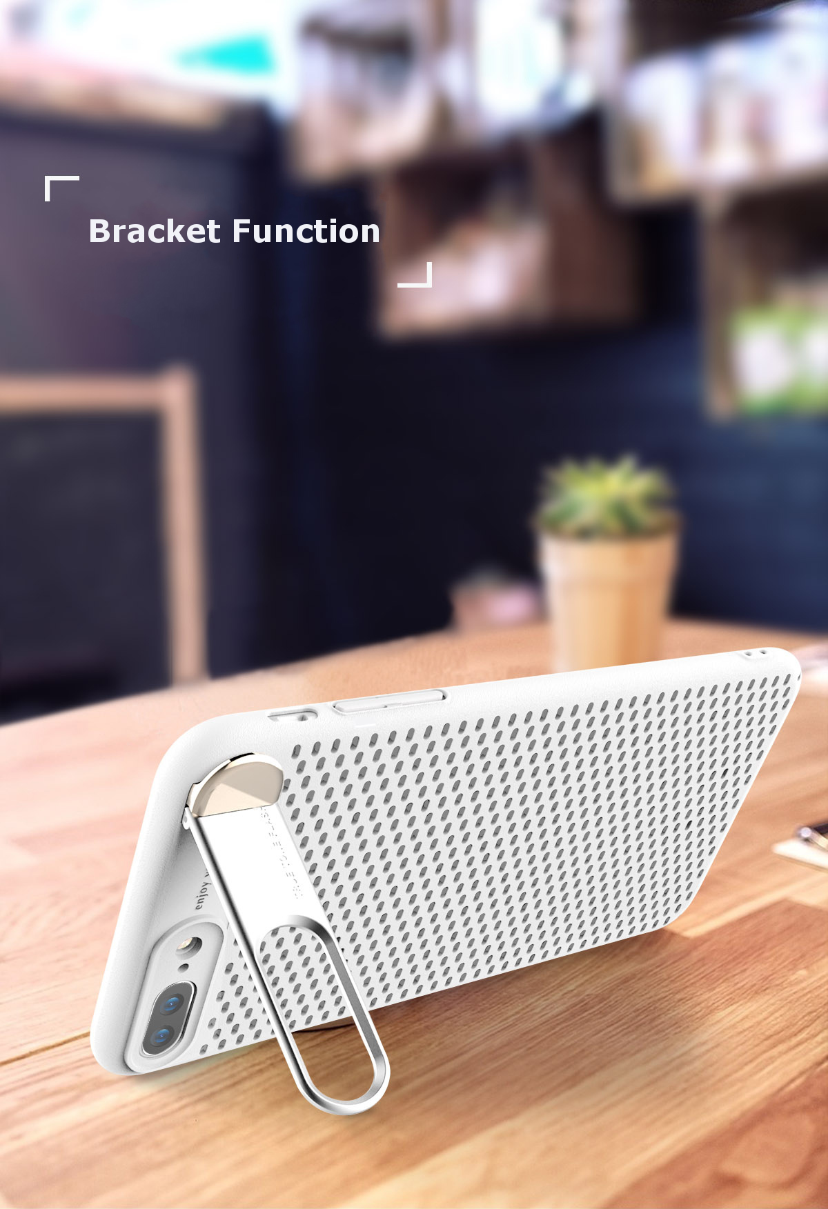 Bakeey Bracket Dissipating Heat Hard PC Case for iPhone 7/8 7Plus/8Plus