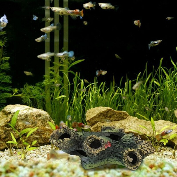 Yani Aquarium Decorations Fish Tank Tree Wood Hideaway House Ornament Realistic Aquarium Decor