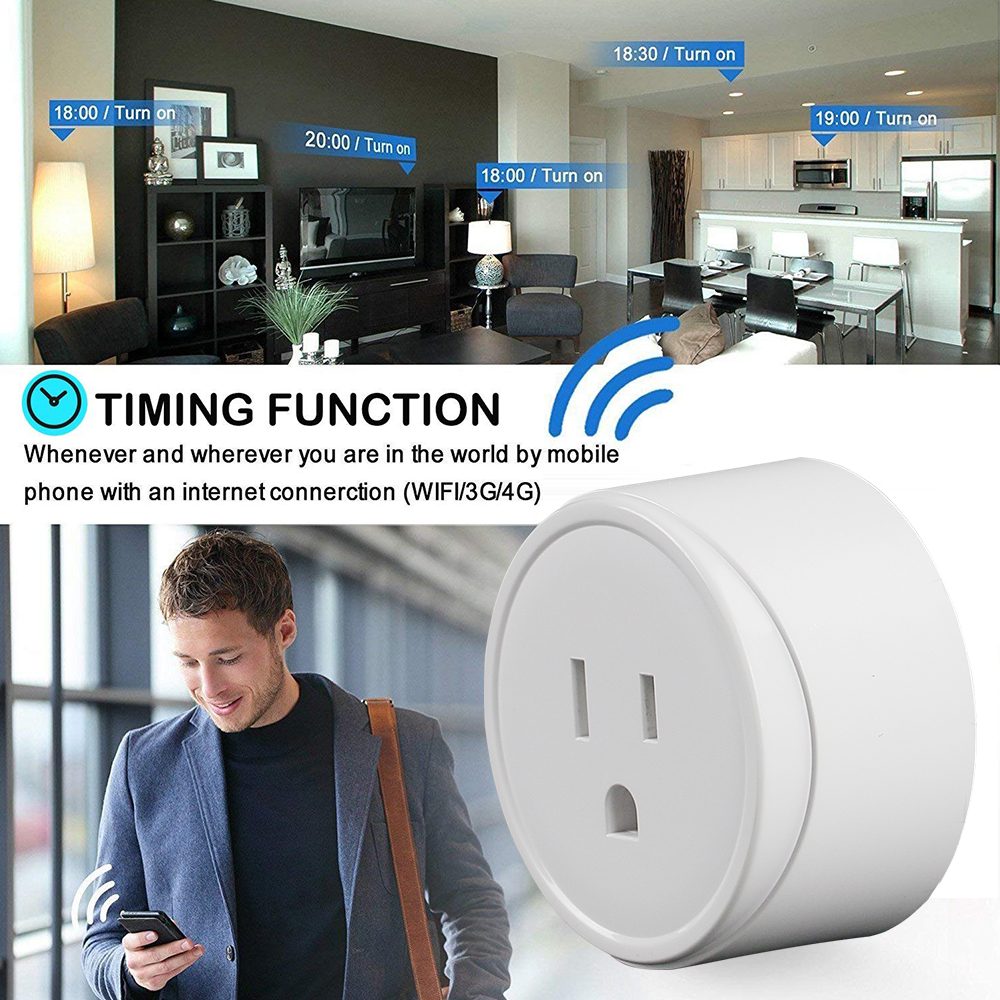 Oukitel P7 Mini Smart WIFI Socket 10A US Plug APP Remote Control Timing Smart Home Switch Power Outlet