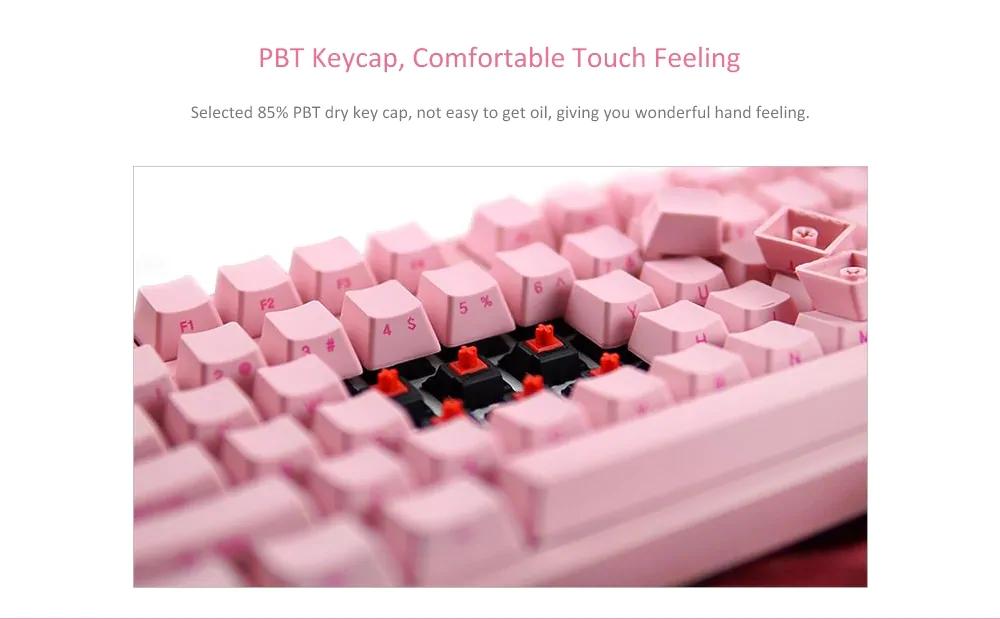 AKKO X Ducky 3084 84 Key Side Printed PBT Keycaps Cherry MX Switch Mechanical Gaming Keyboard